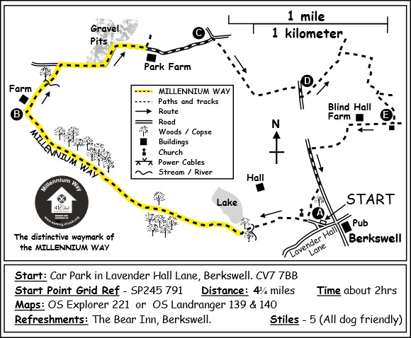 Berkswell Map West