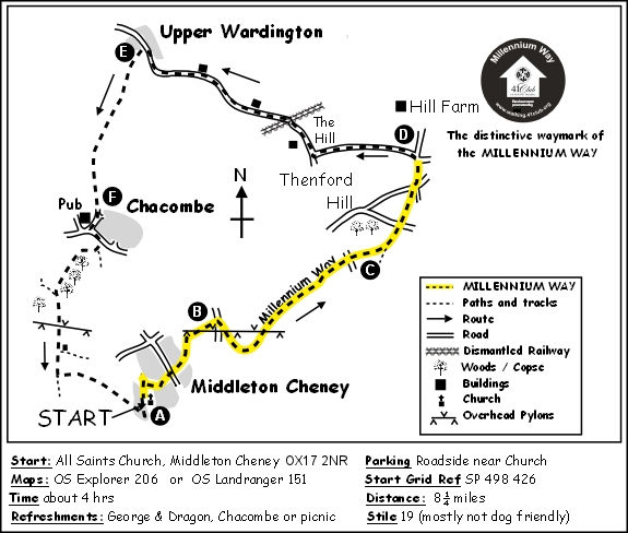 Middleton Cheney Map